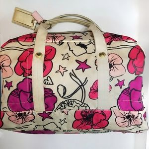 Coach Kyra Floral Poppy Weekender Duffle Bag